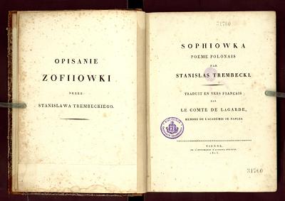 Sofiówka Stanisława Trembeckiego